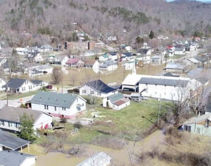 flooded eastern kentucky town