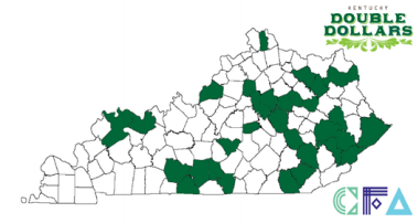 Kenctucky map with double dollar counties highlighted