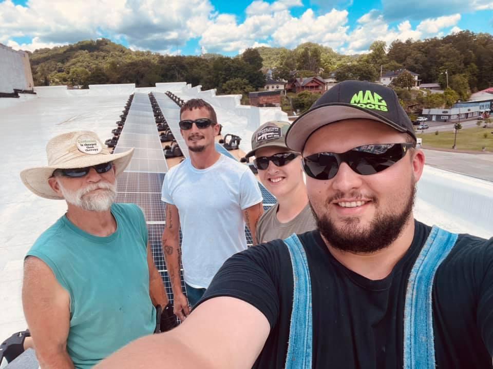 Solar Story H.O.M.E.S. Inc. installed solar panels on the Foundation June 15